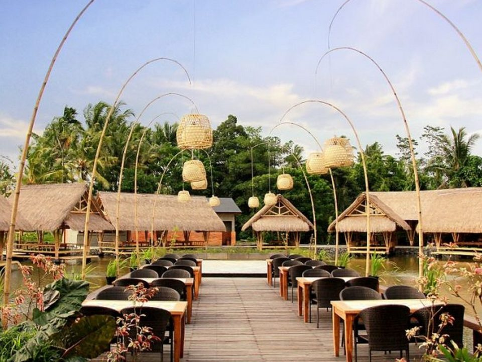 Exterior at Bale Udang Ubud - Outdoor Dining Deck
