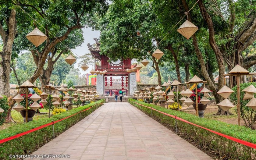 Hanoi - temple-of-literature-walkway